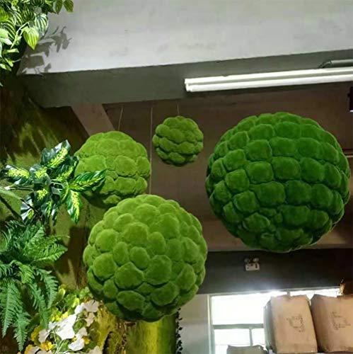 Peiyu Kunstrasenkugel Mooskugel Mooskugel Dekokugel Rasenkugel DIY Design Grün Pflanzen Fenster Display 50cm