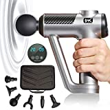 TNK Massage Gun- Upgraded & Professional- Deep Tissue Percussion Massager- Portable & Handheld- for Athlete Men & Women- Muscle & Body Pain Relief & Performance Enhance- 20 Speeds & 6 Heads Quiet