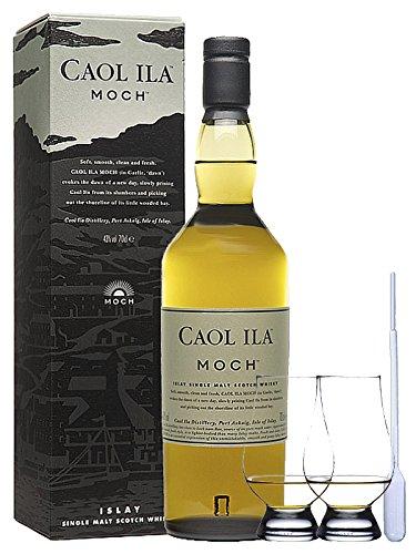 Caol Ila Moch Single Malt Whisky 0,7 Liter + 2 Glencairn Gläser und Einwegpipette