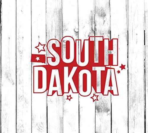 H421ld Calcomanía South Dakota – Yeti, vaso, botella de agua, coche, portátil, camión, teléfono, computadora, etiqueta para el hogar