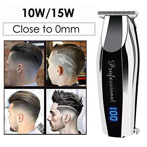 Hair Trimmer 0 1 Mm Cutting Edge Professional oplaadbare tondeuse for mannen Salon Oil Head Precision Clipper 10W ZHW345