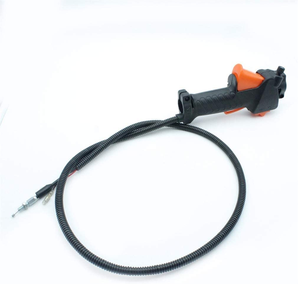 HaoYueDa Cable de gatillo del Acelerador del Interruptor de la manija para desbrozadora, desbrozadora, desbrozadora, Ajuste, Tubo de 26 mm