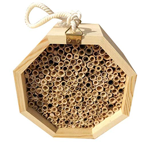 Sunnyushine Insektenhaus Insektenhotel Bienenhaus wildbienen, Bienenhaus Bausatz Bienenzucht Nistkasten für den Garten
