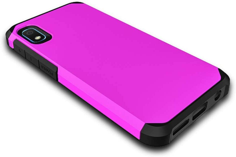 Starhemei for Galaxy A10E Case, Shock Absorption Hybrid Double Layer Rubber Case Full-Body Protective Case Cover for Samsung Galaxy A10E (BrightPink)
