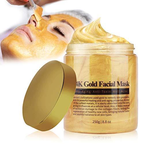 Mitesser Maske, 24K Goldkollagen Gesichtsmaske, Poren reinigen Anti Öl Kontrolle Reinigung Blackhead Maske, Whitening-Maske, gegen unreine Haut, Akne, Anti-Aging-Feuchtigkeitscreme 250g (Original)