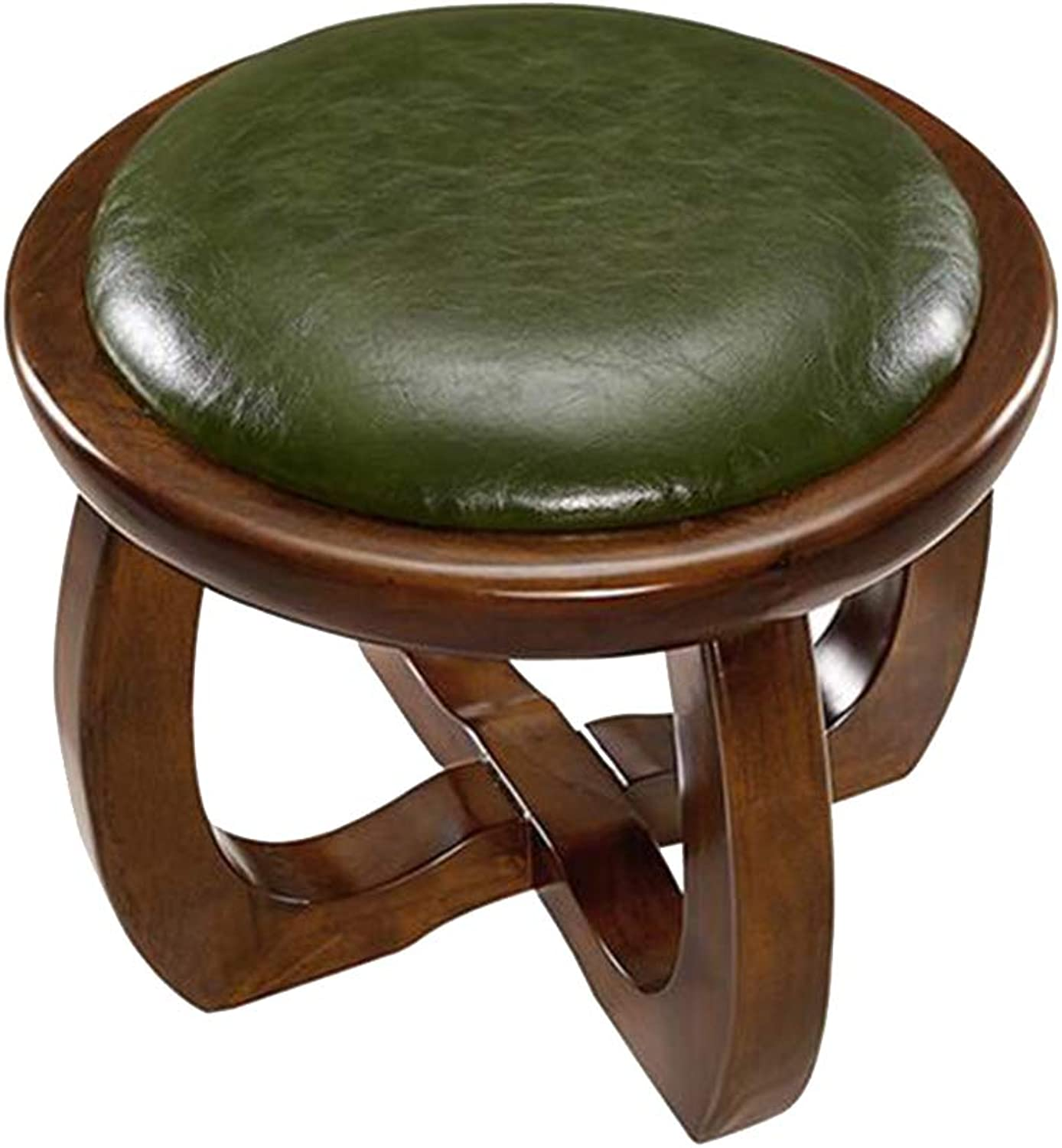 Stool-Make-up, living room solid wood sofa bench, home retro shoe bench artificial leather small
