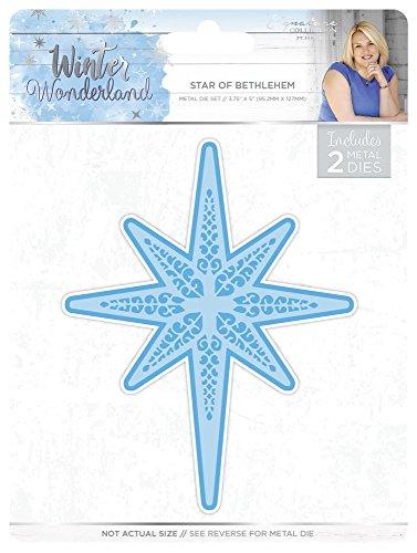 Sara Signature Winter Wonderland Die-Star of Bethlehem Maravillas de Invierno Estrella de Belén de Metal Juego de Matrices Plata, Plateado