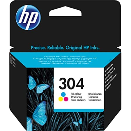 HP 304 Tricromia (N9K05AE) Cartuccia Originale per Stampanti HP a Getto di Inchiostro, Compatibile con Stampanti HP DeskJet 2620 e 2630; HP Deskjet 3720; 3730; 3750 e 3760; HP ENVY 5010; 5020 e 5030