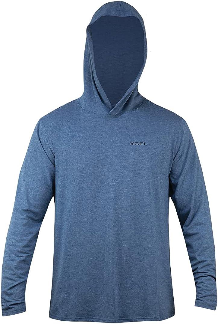 XCEL Mens Threadx Solid Hooded Pullover Long Sleeve Rashguard