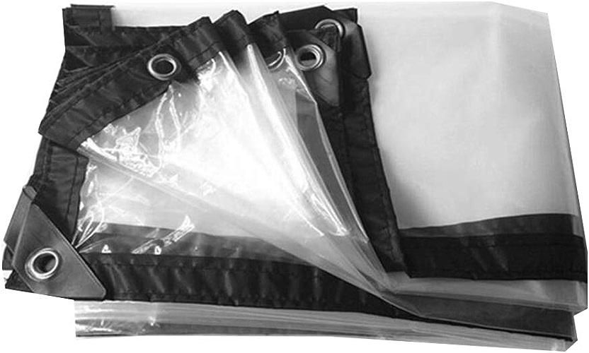 Bache YNN Transparente Transparente imperméable extérieure imperméable de Tissu imperméable de Pluie étanche (Taille   3×7m)