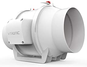 """Vtronic 6"""" Mixed Flow Inline Duct Fan Pre-Wired Exhaust Fan, 550 CFM Speed Controllable Ventilation Fan for Grow Tents/Hyd..."""