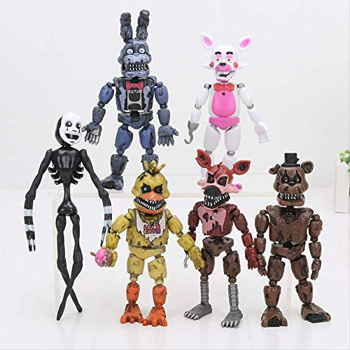 6Pcs / Set 12-18Cm Fünf Nächte Bei Freddy's Figur FNAF Toys, Bonnie Foxy Freddy Fazbear Bär Mangle Doll PVC Action Toy Figuren