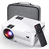 DBPOWER L21 Video Projector, Upgraded 6000L 1080P Supported Full HD Mini Projector with HDMIx2/USBx2/Handed Bag, Compatible with Smartphone/TV/PS4/DVD