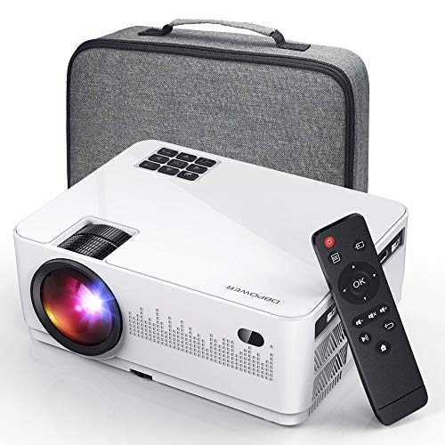 DBPOWER L21 Video Projector, Upgraded 6000L 1080P Supported Full HD Mini Projector with...