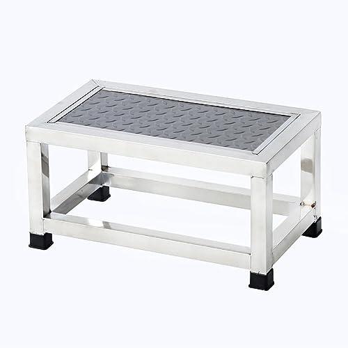 DY Marchepieds Tabouret de Petit escalier de Tabouret d'échelle d'acier Inoxydable de Tabouret d'étape Simple pour la Clinique de ménage