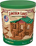 LINCOLN LOGS –100th Anniversary Tin-111 Pieces-Real Wood...