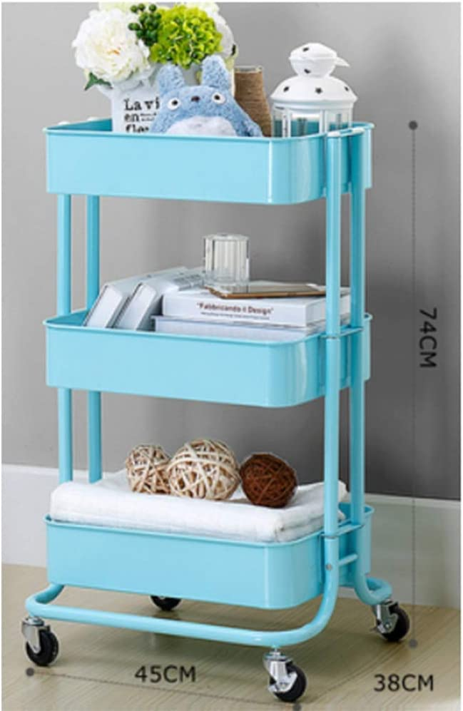 Max 84% OFF HUO Trolley Household Shelf Floor Kitchen Selling Storage Rack Removable