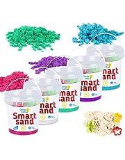 GenioKids Smart Sand Lot de sable cinétique 5 couleurs 750 g