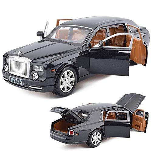 Model Car Sport Scale 1:24 Rolls-Royce Phantom Metal Diecast Model Car Toy Sound&Light Black with Box -  Model Car Sport - 075