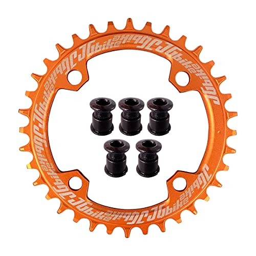 JGbike Elite rundes ovales Kettenblatt 104 mm BCD 30T 32T 34T 36T 38T schmales breites Einzel-Kettenblatt für 8 9 10 11 12 Gang MTB XC Trail E-Bike Fatbike Mountainbike Fahrrad