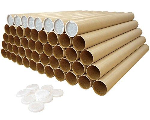 ボックスバンク 紙管 紙筒 丸筒 (A2) ポスター・カレンダー収納用 50本セット SS10-0050
