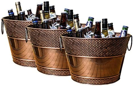 BREKX Old Tavern Copper Finish Beverage Bucket and Wine Chiller Rust Resistant and Leak Proof product image