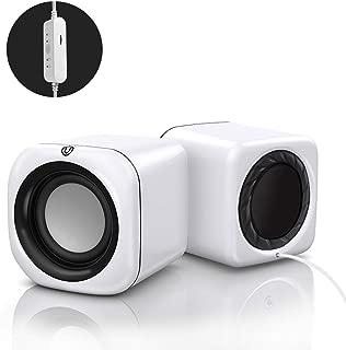 YANTING Laptop Audio Home Desktop Desktop Wiring Multi-speaker Active Small Speaker Mobile Phone Usb Mini Multimedia Small Speaker Heavy Subwoofer Universal (Color : White, Style : Standard model)
