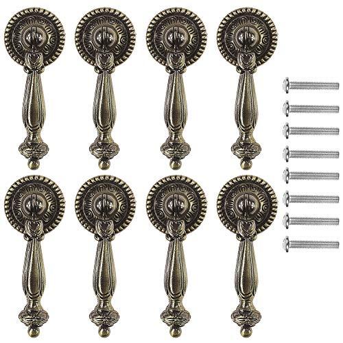Paor - Confezione da 8 pomelli decorativi per armadietti, stile vintage, con viti di montaggio