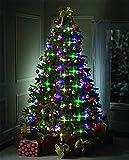 Guirlande Lumineuse pour Sapin de Noël, Décoration de Noël, Multicolore Suspendues Lumières Intérieur Parti Jardin Patio Chambre De Mariage Décor (64 Boules)