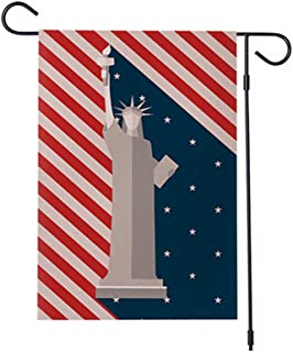 Statue of Liberty Garden Flag Patriotic Theme Holidays Yard Flag Banner 12 x 18 Inch Double Sided Burlap Lawn Flag - 4th of July Independence Day USAAmerican Garden Flag Indoor Outdoor Decoration