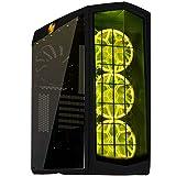 SilverStone SST-PM01B-RGB - Primera Midi Tower ATX Gaming Computer Case, Silent High Airflow Performance, with Window, RGB LED, black