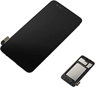 CENTAURUS Replacement for LG Tribute Empire LCD Display Touch Screen Digitizer Frame Bezel Assembly Part Compatible with LG Aristo 3 2019 LM-X220MA / K8 2019 / Tribute Empire LMX220PM 5.0 inch