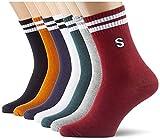Urban Classics Unisex College Letter 7-Pack Socken, Multicolor, 43-46