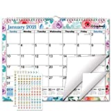 CRANBURY Wall Calendar 2021 15x12' - (Floral), Big Wall 2021 Calendar, Use to December 2021, Flowers Calendar Includes Stickers for Calendars