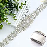 Cinturón con adorno de estrás de ShinyBeauty para el vestido de novia, diadema o decoración de almohada