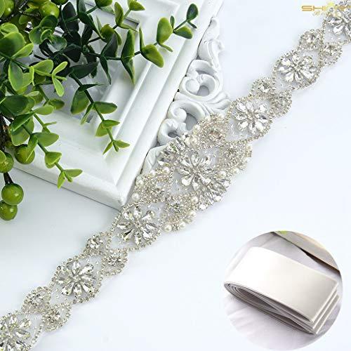 Cinturón con adorno de estrás de ShinyBeauty para el vestido de novia,...