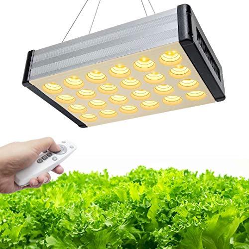 1600W Lampade per Piante, Bozily Lampada LED per Piante Full Spectrum Lampada LED Coltivazione Indoor con Telecomando, Dimmerabile, Timer 6/12/18H, 216 LEDs Sunlike luci per Piante Indoor