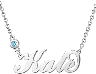 SOUFEEL Personalized Name Necklaces for Women Birthstone Nameplate Pendant 925 Sterling Silver Customized Custom Gifts for...