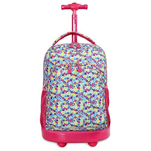 J World New York Sunny Rolling Backpack, Floret, One Size