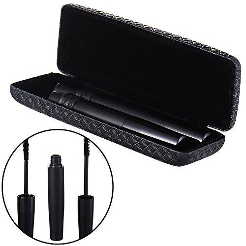 Pack von 2 Reisen 3D Fiber Wimpern Mascara Natural Black Wimpern Extender Extentionen mit Aufbewahrungsbox