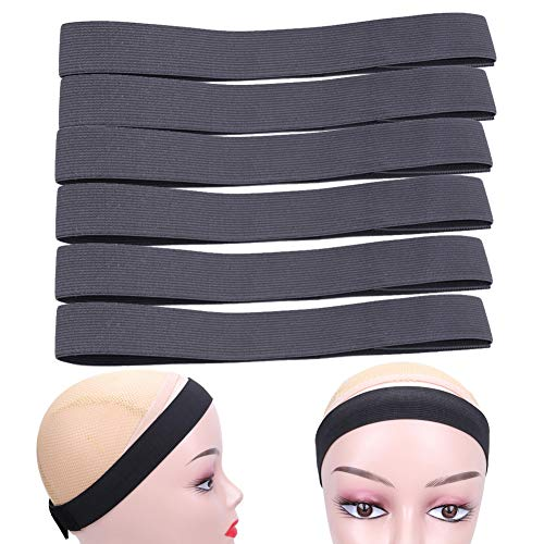 6Pcs/Lot Wig Edge Elastic Band With Adjustvelcro, Edge Slayer For Salon 58Cm Edge Grip Band 3Cm Width Edge Laying Band For Baby Hair Adjustvelcro Headband For Closure Frontal Wigs Lay Down