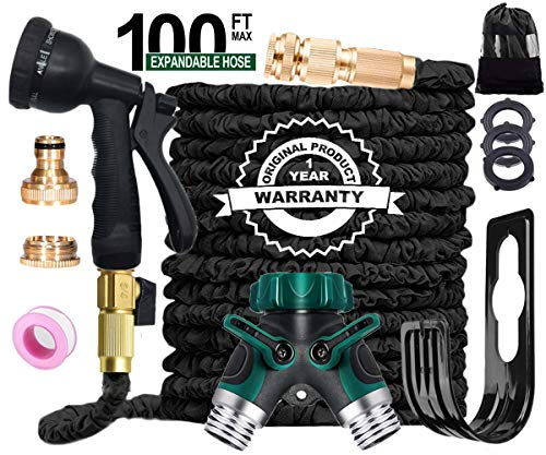 AILUZE Garden Hose Pipe -100Ft Flexible and Durable 4-Layers...
