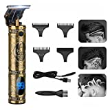 T Blade Trimmer Hair Clippers for men Professional Cordless T Outline Beard Trimmer Haircut & Grooming Kit Rechargeable, LED Display