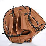 Dtcat Sports Batting Gloves,Gauntlets - Baseball Gloves Professional Catcher Gloves Thick PVC Faux Leather Infield Gloves Adult Gloves - Handguards,Left Handed Thrower