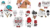Animal Tatuajes Perros Tatuajes Multicolor 4hojas Juego para fiestas y diversión Sweet Animals 4