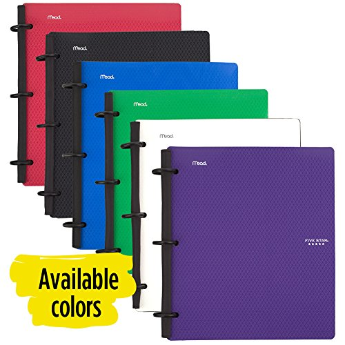 Five Star Flex Hybrid NoteBinder, 1-1/2 Inch Binder with Tabs, Notebook and 3 Ring Binder All-in-One, Red (72399) Photo #5