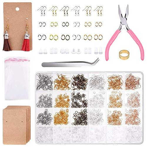 Keyzone - Ganchos para orejas en 6 colores para hacer tus propias joyas.