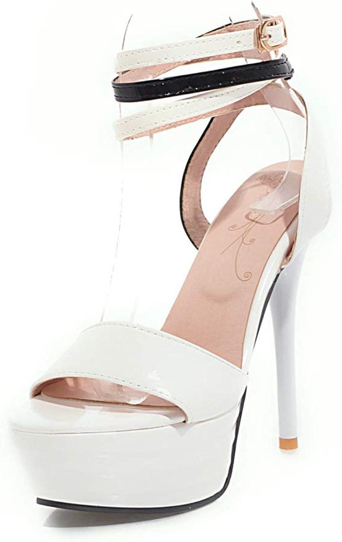 HOESCZS Marke große Größe 32-43 Sommer Knöchelriemen Knöchelriemen Knöchelriemen Sandalen Frauen Schuhe super dünne High Heels Party Prom Schuhe Frau,  a2f56f