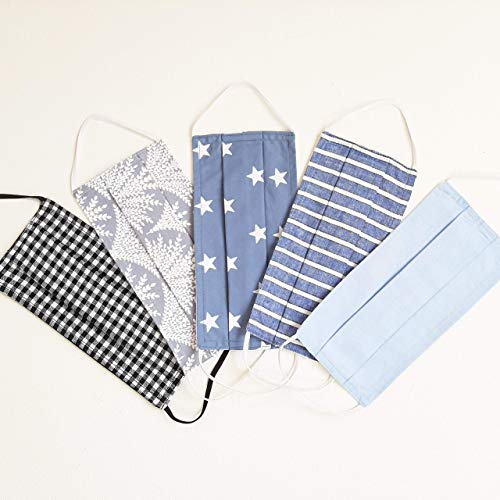 5 Pcs Face Masks/set (only $6 per mask) cotton 100% face mask coverings-reusable washable family set- Japanese style fashionable-Colorful Flowers Sweet