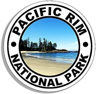 American Vinyl Round Pacific Rim National Park Sticker (Travel rv Hike BC Canada)
